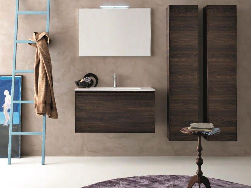 HPL bathroom furniture set LIGHT 45 - COMPOSIZIONE G10 by NOVELLO
