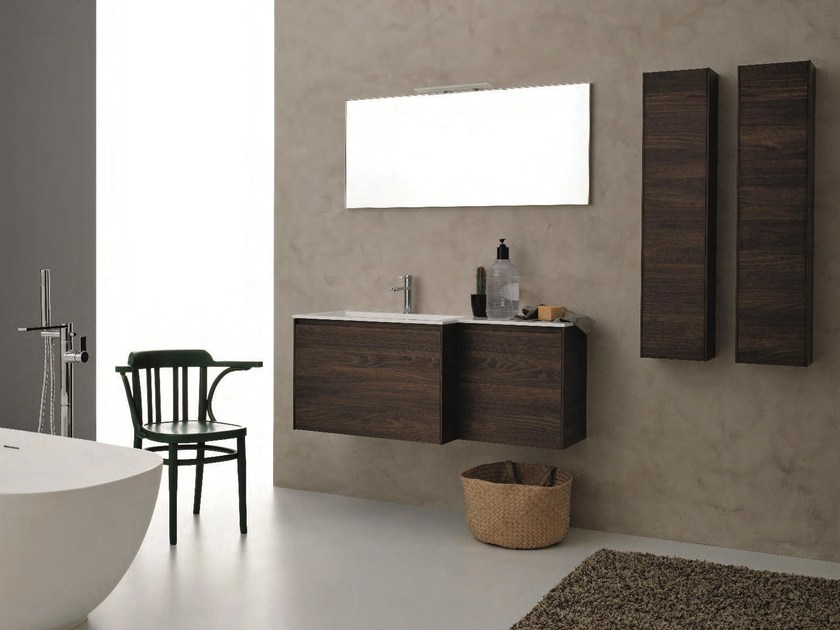 HPL bathroom furniture set LIGHT 45 - COMPOSIZIONE G11 by NOVELLO