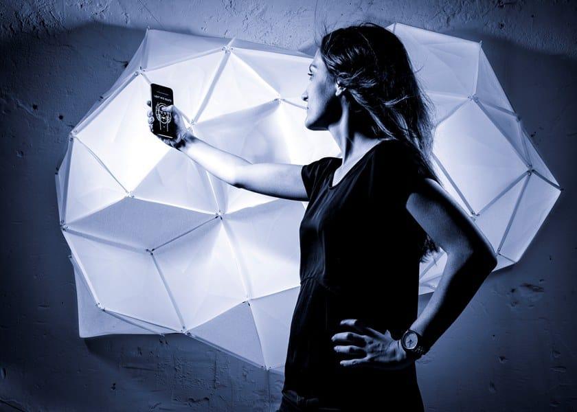 LED RGB wall light LIGHT AND SOUND by OCTAVIO AMADO
