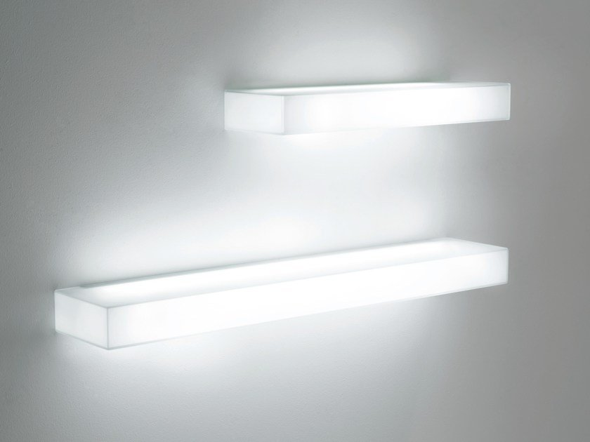 Crystal Wall Shelf With Integrated Lighting Light By
