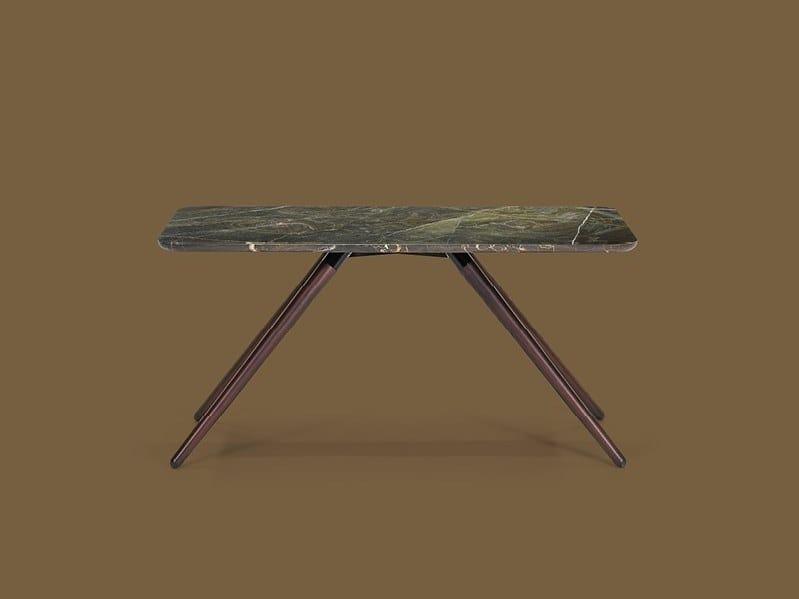 Rectangular marble coffee table LIGHT | Rectangular coffee table by Borzalino