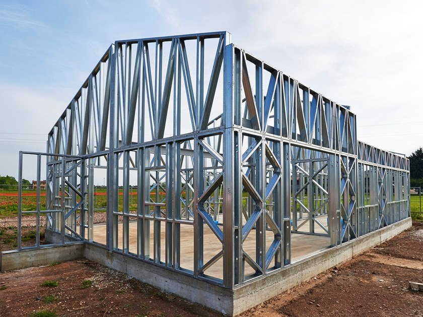 Steel building system LIGHT STEEL FRAME by Manni Green Tech