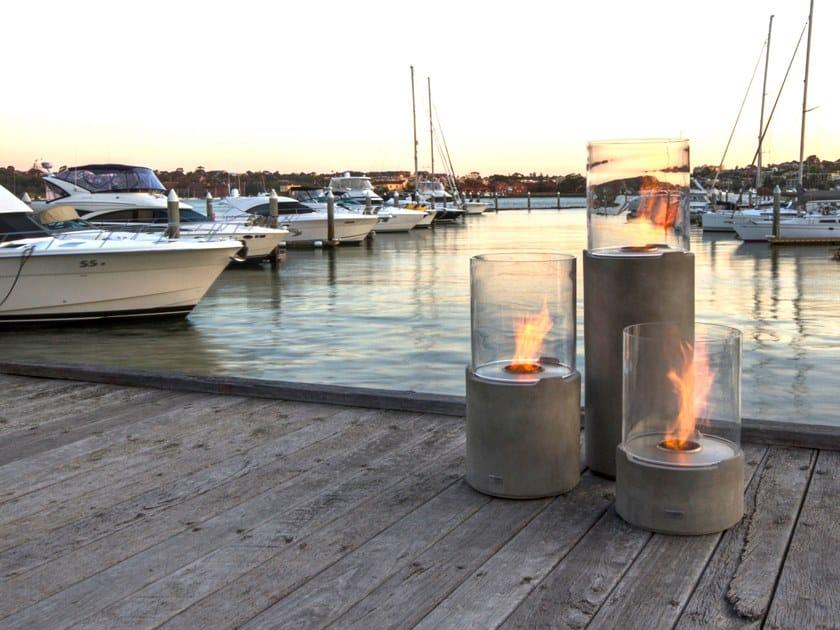Outdoor freestanding bioethanol fireplace LIGHTHOUSE 300 by EcoSmart Fire