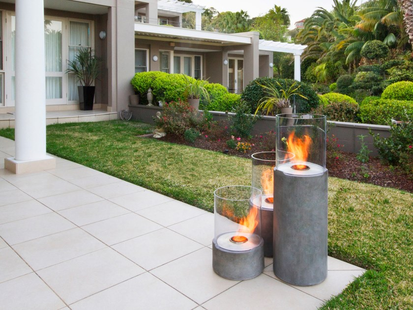 Outdoor freestanding bioethanol fireplace LIGHTHOUSE 600 by EcoSmart Fire