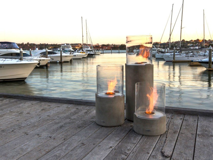Bioethanol freestanding fireplace LIGHTHOUSE SERIES by EcoSmart Fire