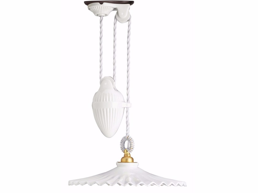Porcelain pendant lamp VENTAGLIO UP&DOWN by GI Gambarelli