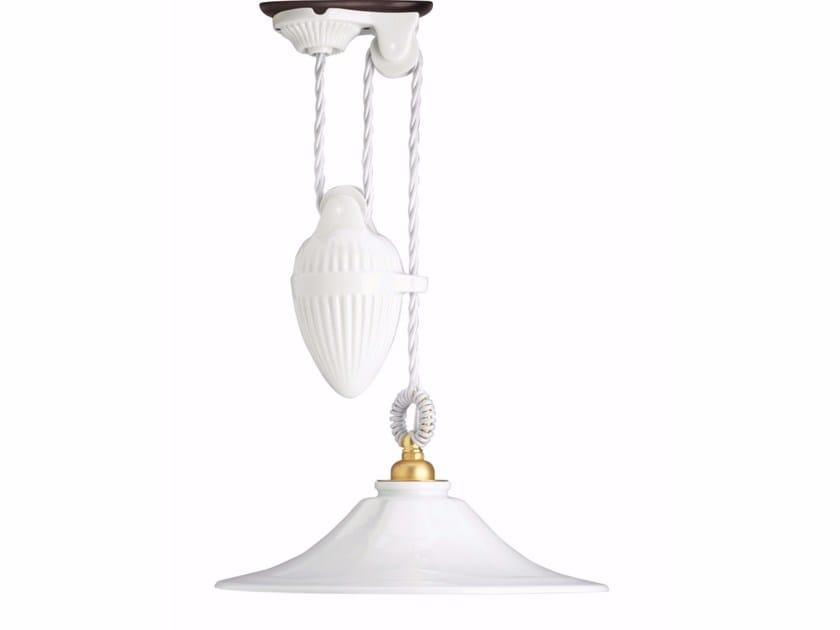 Porcelain pendant lamp GODET UP&DOWN by GI Gambarelli