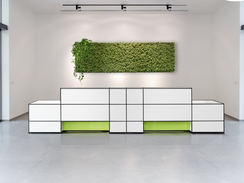 Modular Office reception desk LIGHTING OPTIONS by Bosse