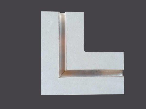 Profilo per illuminazione in cartongesso taglio luce continuo per