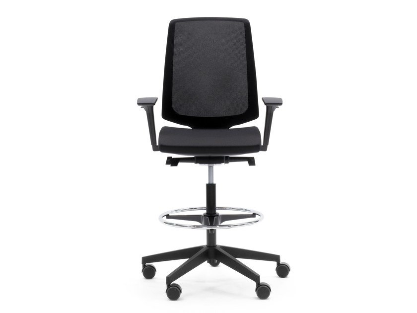 Task chair with 4-Spoke base with casters LIGHTUP 350ST by profim