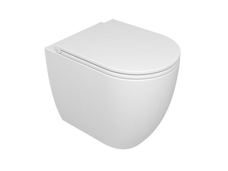 Vaso a terra LIKE WC A TERRA | Bianco lucido by GSG Ceramic Design Srl