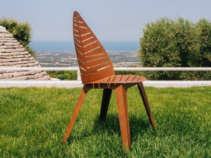 Corten™ garden chair LILA by TrackDesign
