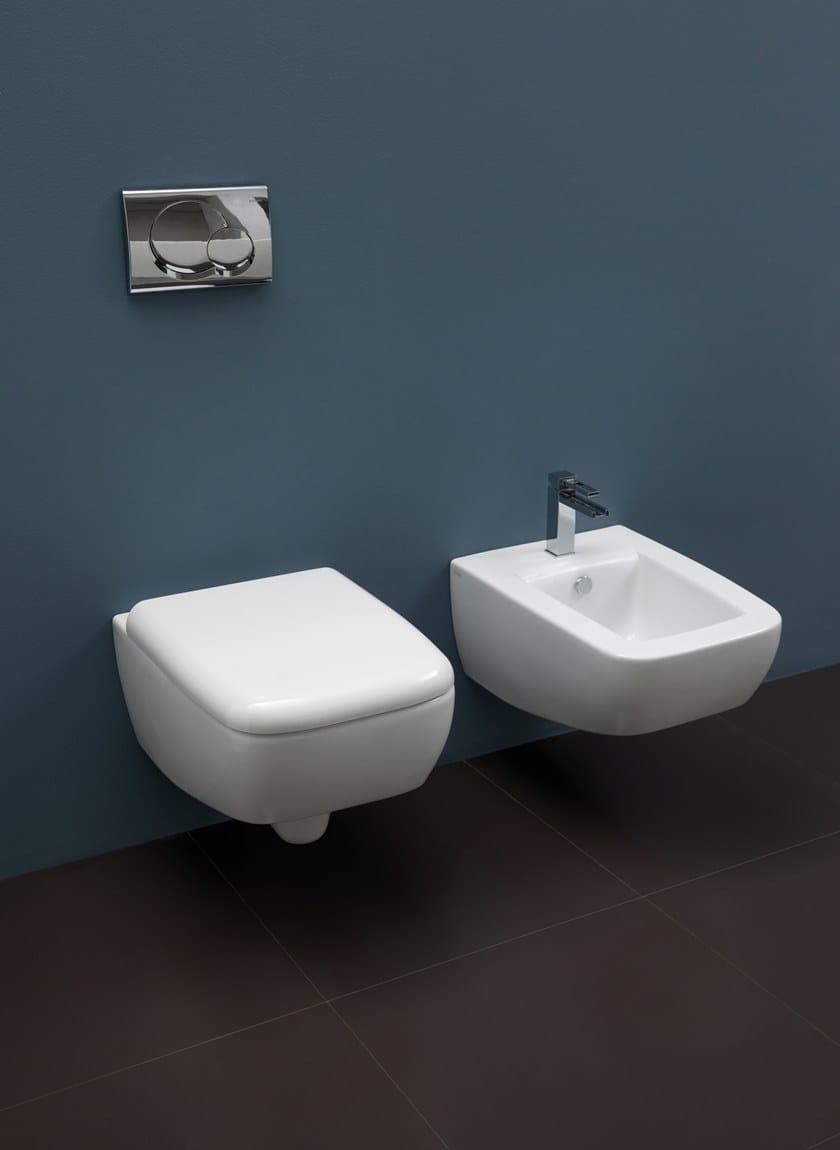 LILAC   Wall-hung toilet By GSG Ceramic Design design Massimiliano Abati