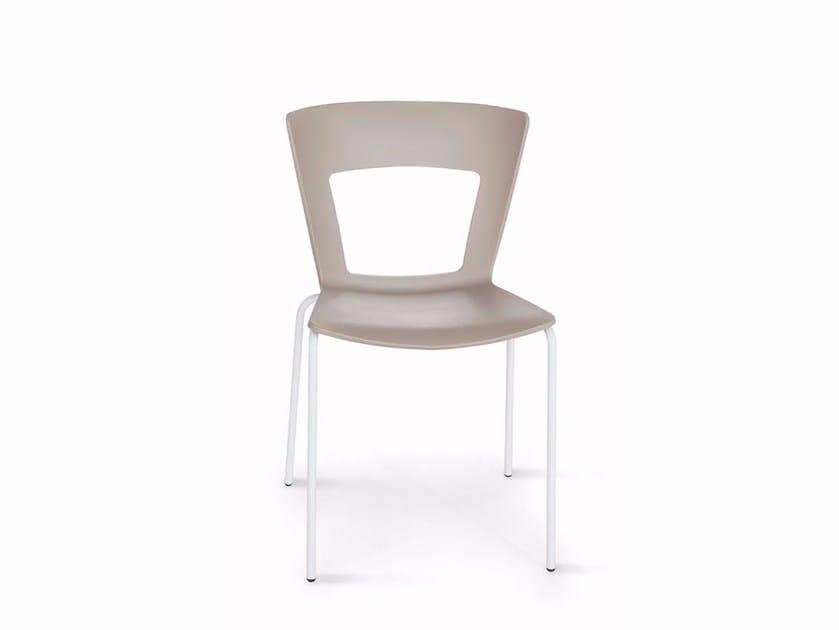 Sedia impilabile con schienale aperto LILIA | Sedia by RIFLESSI