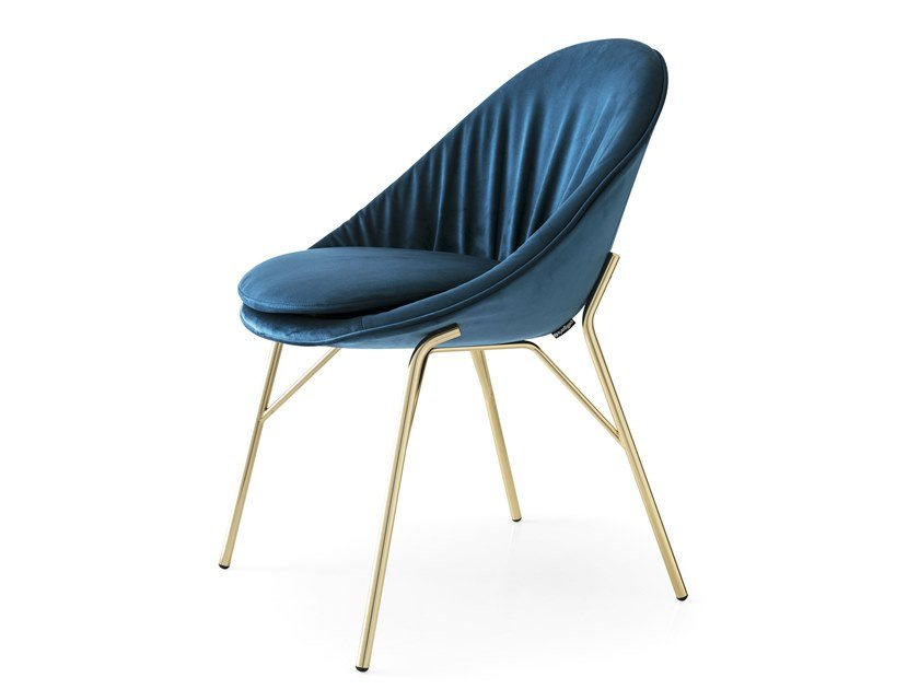 Upholstered fabric chair LILLY by Calligaris