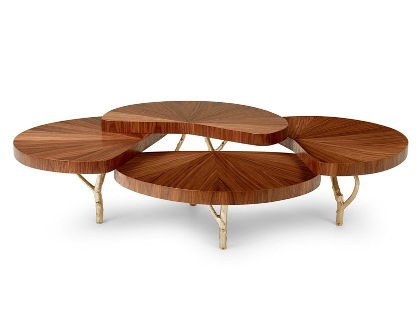 Wood veneer coffee table LILY by Ginger & Jagger