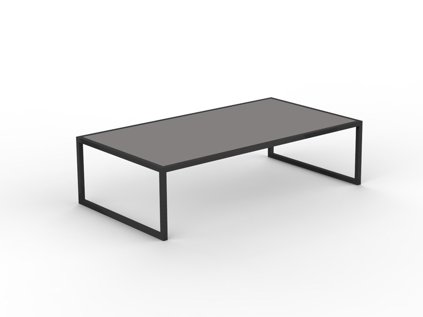 LILY TEAK Coffee Table Lily Teak Collection By Talenti - Rectangular glass side table