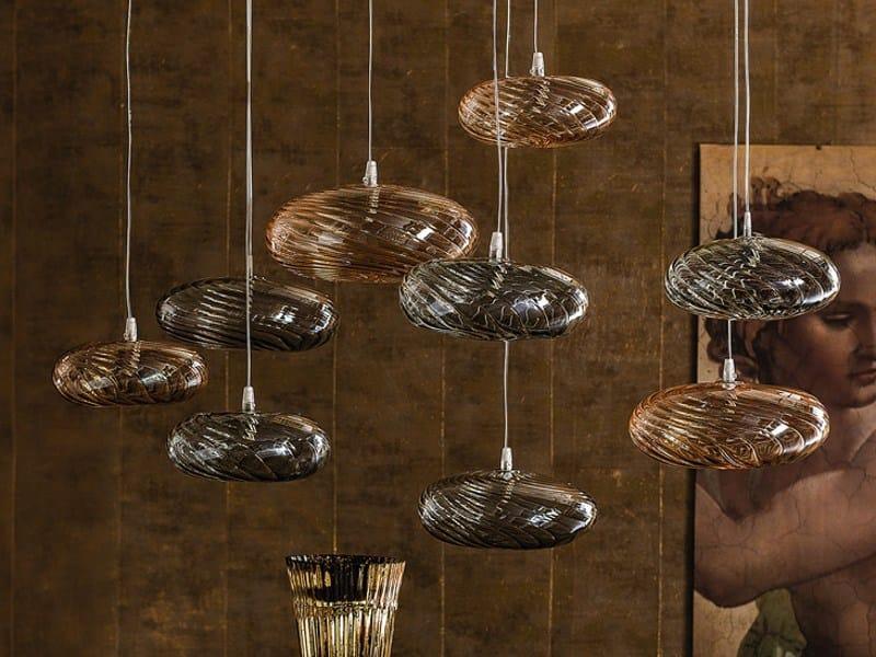 Borosilicate glass pendant lamp LIM-Z by Cattelan Italia