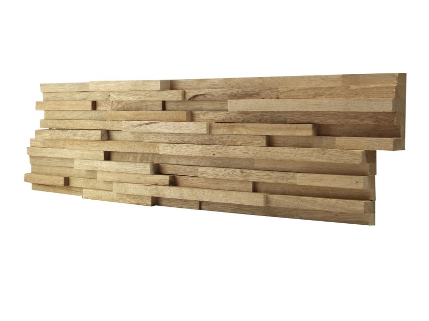 Indoor wooden 3D Wall Cladding LIMBA CLASSIC by Claddywood