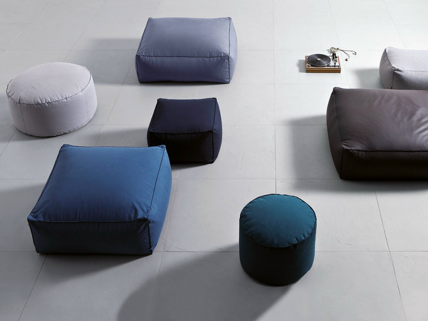 Upholstered fabric pouf LIMBO | Pouf by PIANCA
