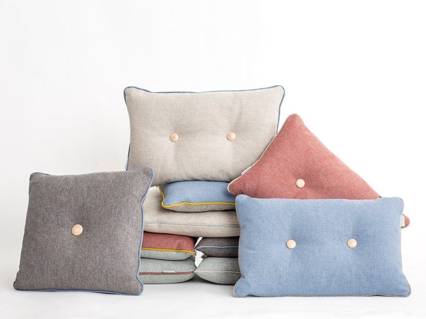Solid-color fabric cushion LIMBUS   Cushion by Glimakra of Sweden