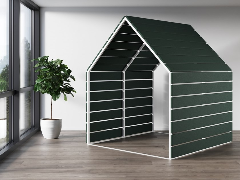 Acoustic fabric office booth LIMBUS BARN 270 by Glimakra of Sweden