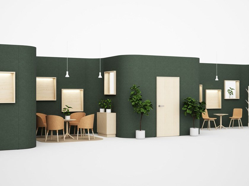 Acoustic movable wall LIMBUS BUILDUP by Glimakra of Sweden