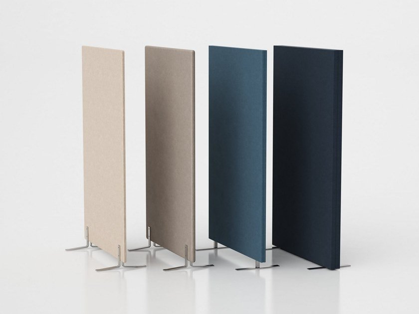 Sound absorbing free standing workstation screen LIMBUS FLOOR | Workstation screen by Glimakra of Sweden