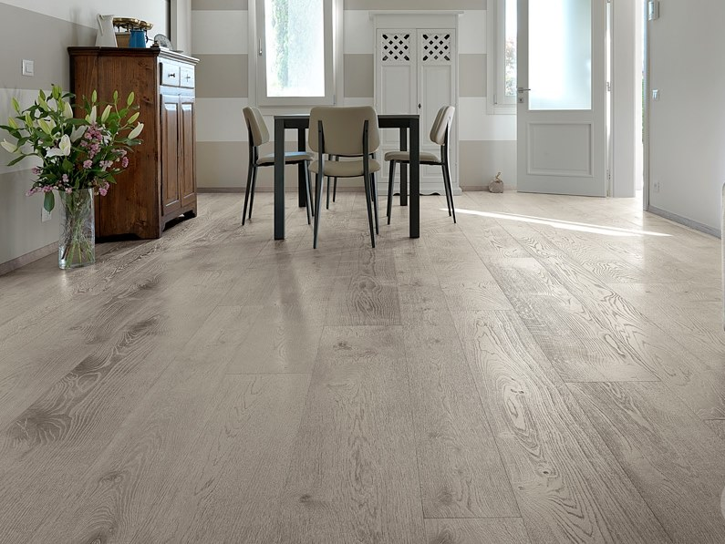 3 layers English oak parquet LIME EFFECT QUERCIUS by CADORIN GROUP