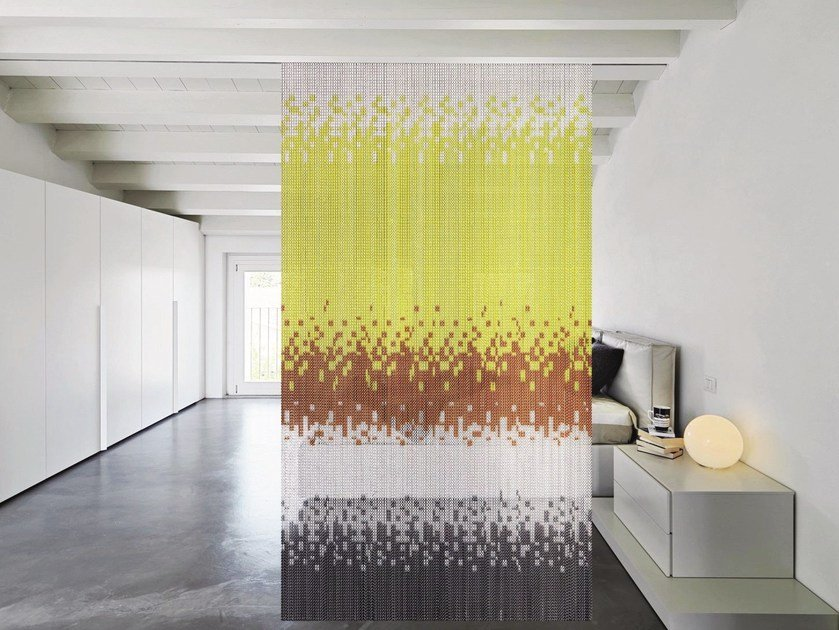 Aluminium chain curtain LIME HIPPY COLORINI by Kriskadecor