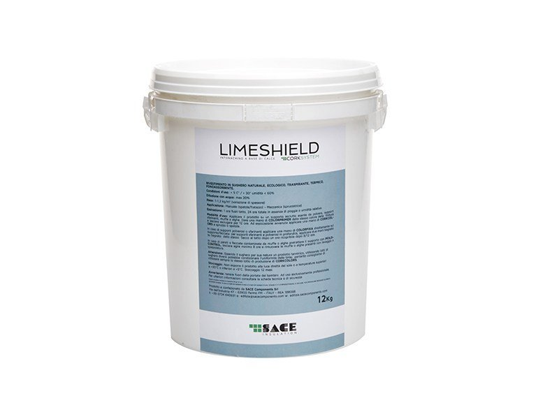 Natural plaster for sustainable building LIMESHIELD by Sace Components