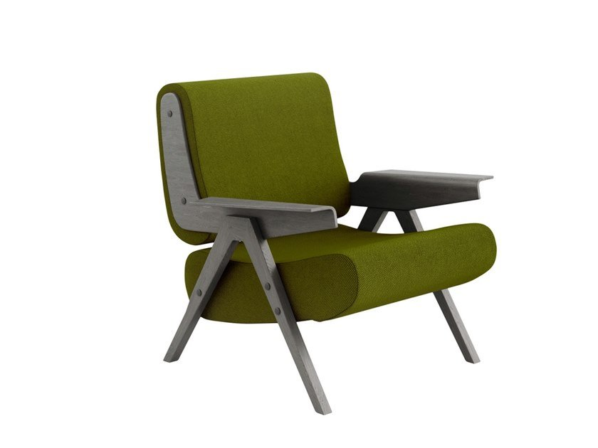 Fabric armchair with armrests LINA | Armchair by Tacchini