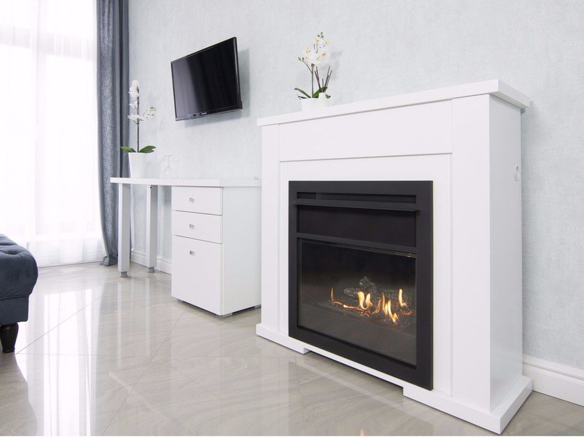 Bioethanol fireplace with remote control LINCOLN by Planika