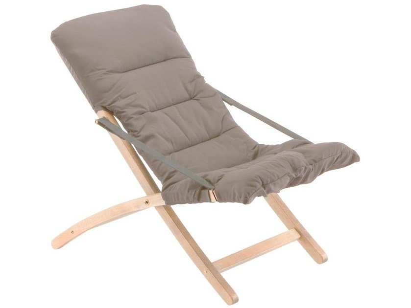 Klappbarer Liegestuhl aus Holz LINDA SOFT IN ROBINIA By FIAM