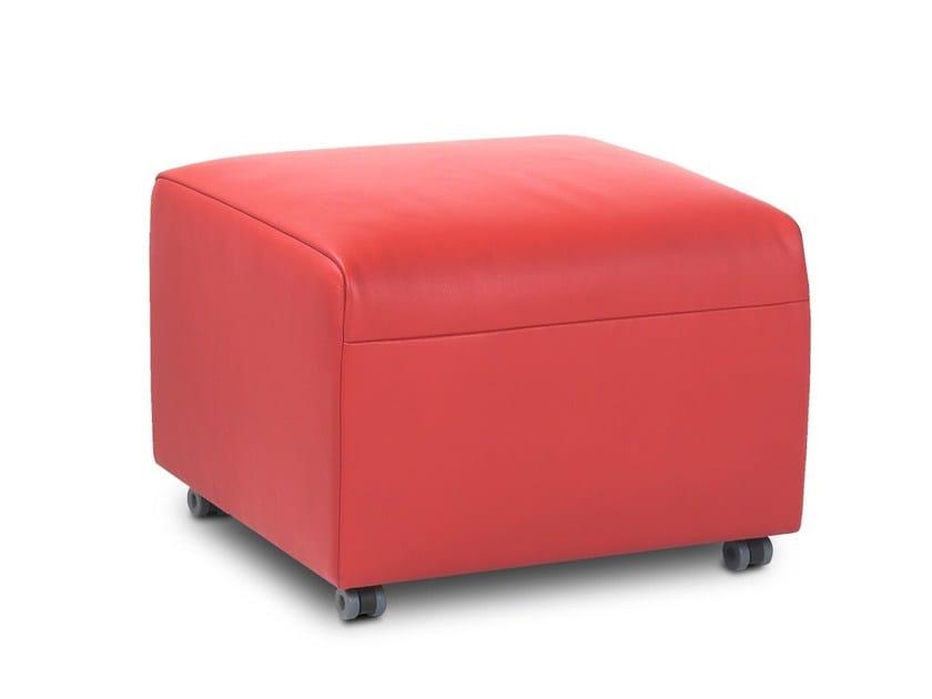 Leather footstool LINDO JR-P820 by JORI