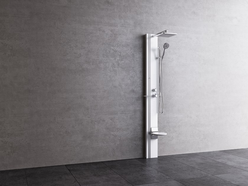 Multifunction shower panel LINE 1 by NOVELLINI
