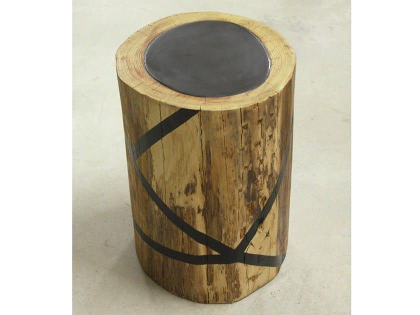 Oak stool LINE by Binome