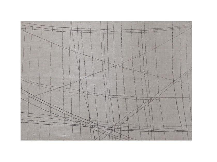 Rectangular linen placemat LINE | Placemat by Birgit Morgenstern Studios
