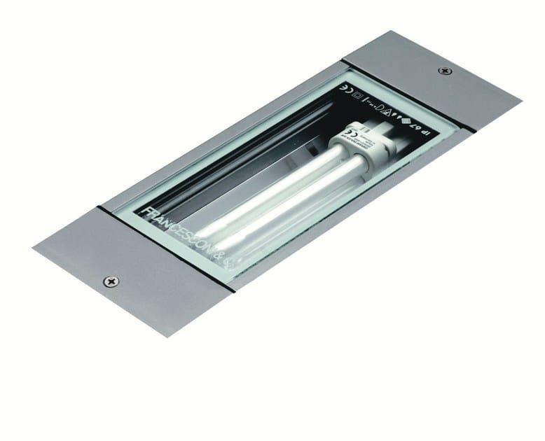 Walkover light fluorescent extruded aluminium steplight LINE F.1003 by Francesconi & C.
