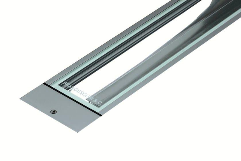 Walkover light fluorescent extruded aluminium steplight LINE F.1006 by Francesconi & C.