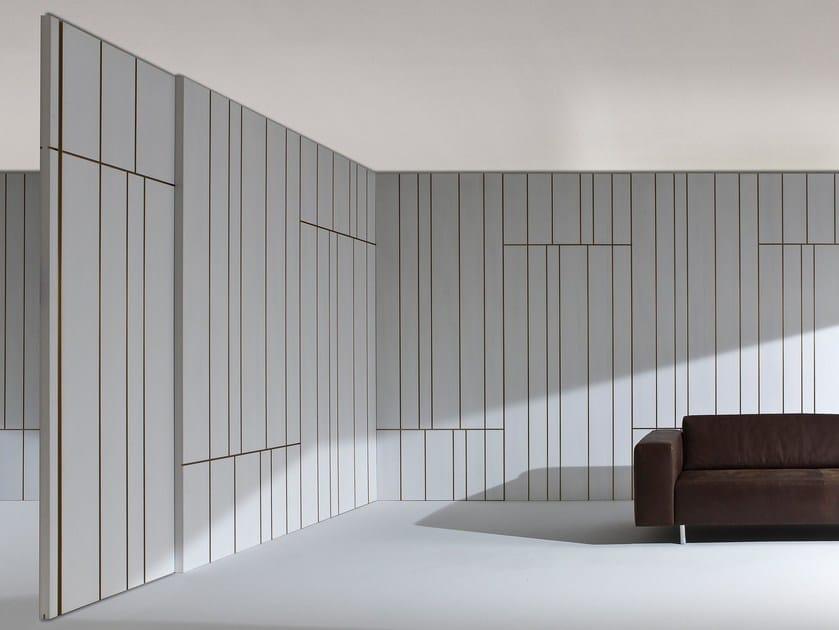 Boiserie in legno LINE By Laurameroni design Cesare Arosio