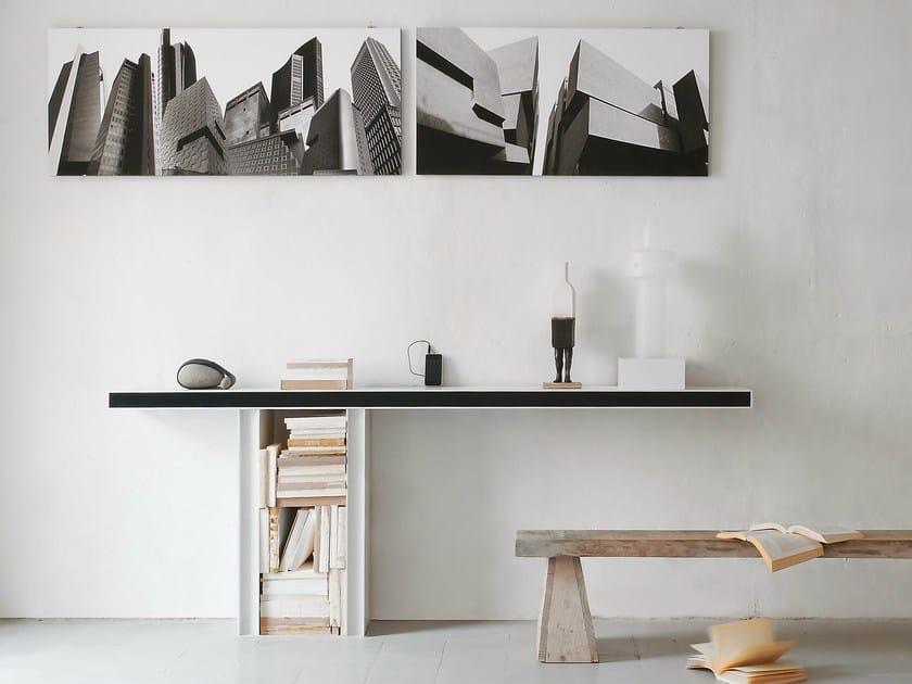 Consolle In Alluminio.Line Consolle By Albed By Delmonte Design Daniele Lo