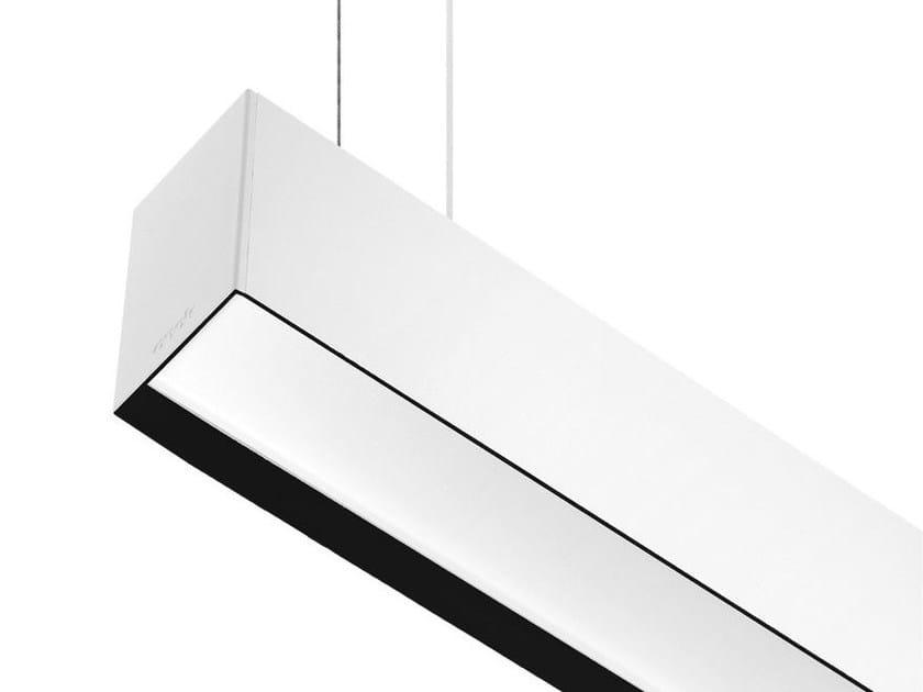 Contemporary style direct-indirect light LED aluminium pendant lamp LINE R C by ONOK Lighting