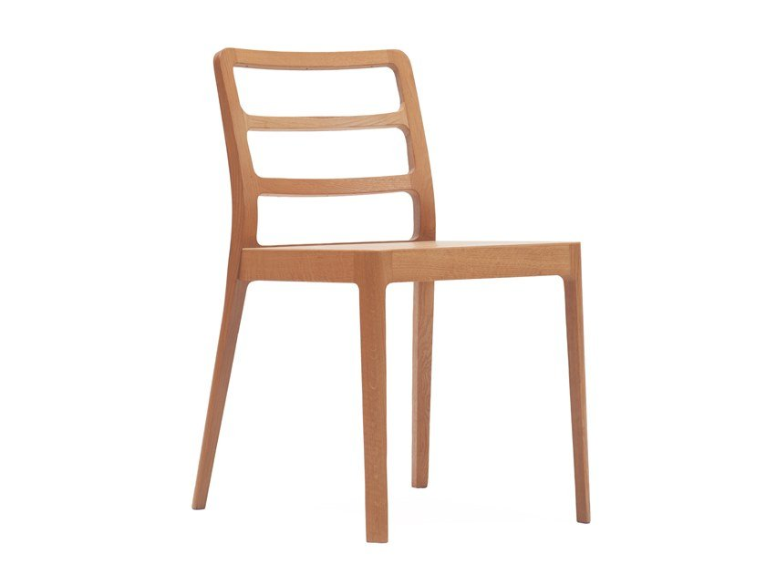 Open back wooden chair LINE by Italcollections