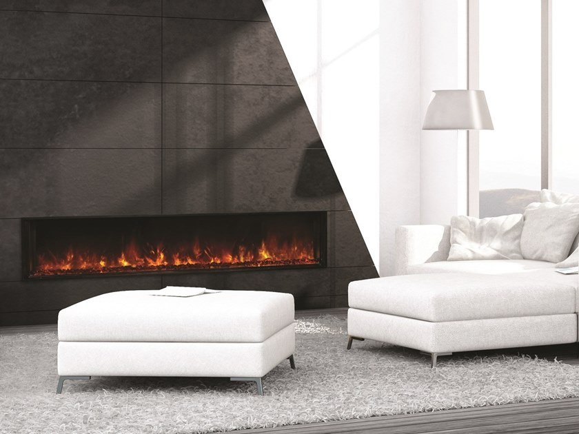 Open electric built-in fireplace LINEA 1000 by BRITISH FIRES