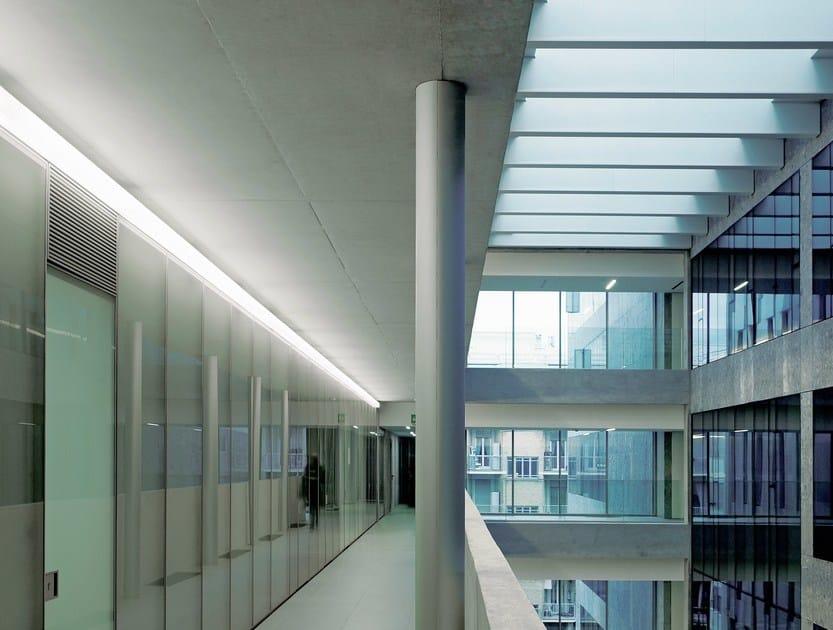Fluorescent wall lamp LINEA 2 by FontanaArte