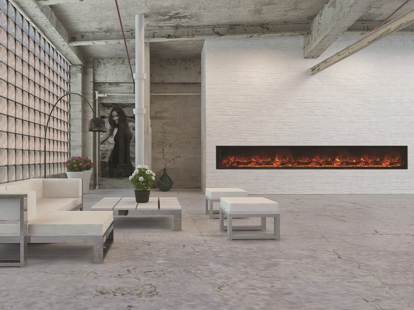 Open electric built-in fireplace LINEA 2000 by BRITISH FIRES