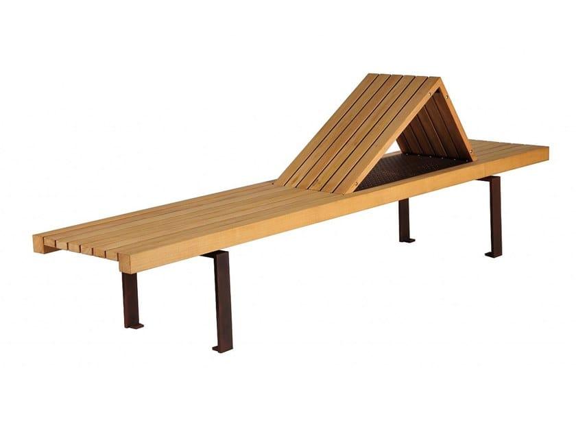 Seduta da esterni in legno LINEA 395 by Euroform W