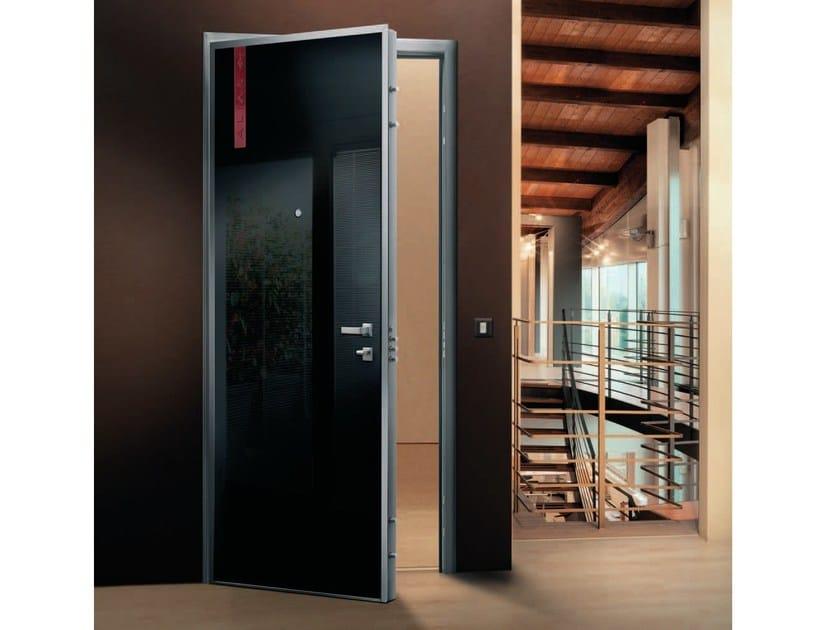 Armoured door panel LINEA by Alias Security Doors