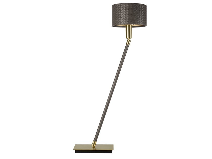 Handmade leather floor lamp LINEA BOTTEGA | Floor lamp by Abrissi